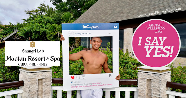 Cebu Fitness Blogger, Mark Monta during Shangri-La's Mactan Resort and Spa Global Wellness Day