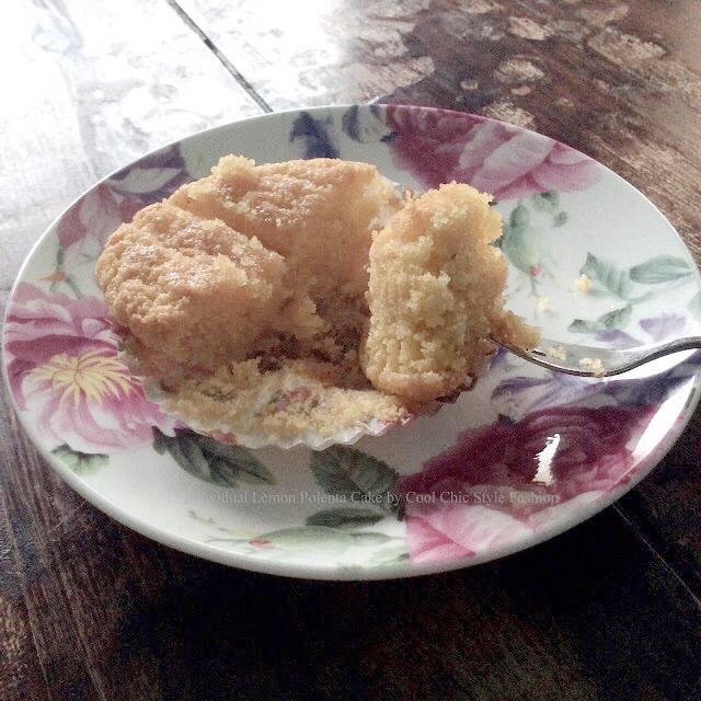 Individual Lemon Polenta Cake