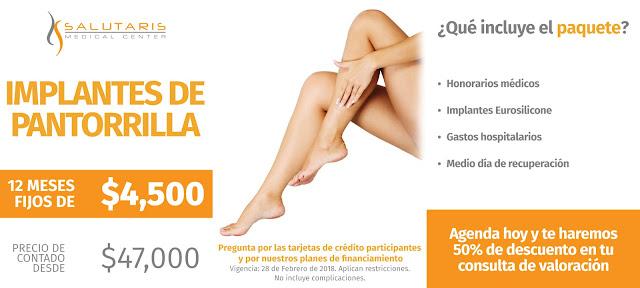 Paquete de Implantes de Pantorrilla en Guadalajara