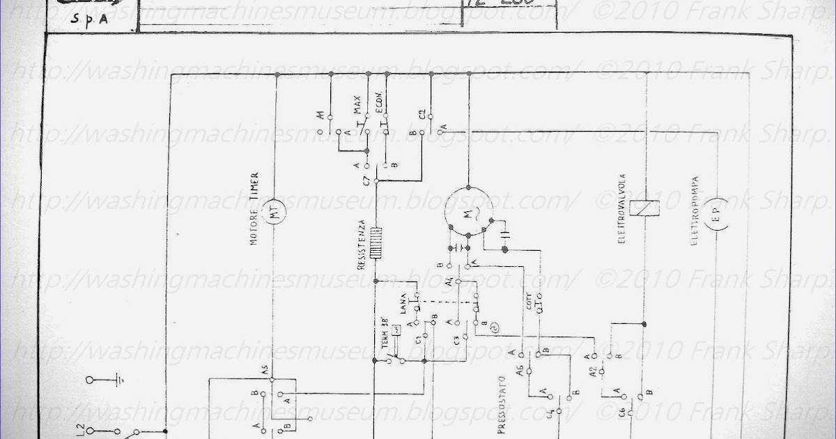 Washer Rama Museum.: CANDY SA98 SCHEMATIC DIAGRAM.