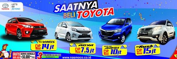 Promo Toyota Solo, Yaris DP 14 Juta, Agya DP 7,5 Juta, Avanza DP 10 Juta, Rush DP 15 Juta