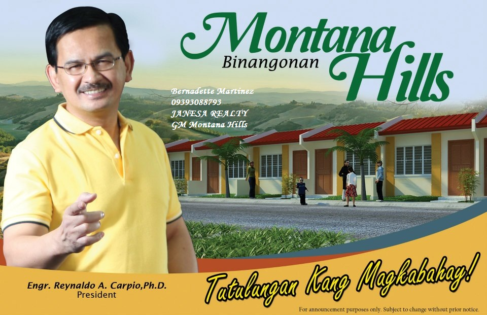 Montana Hills Binangonan Philippines Free Classified Ads