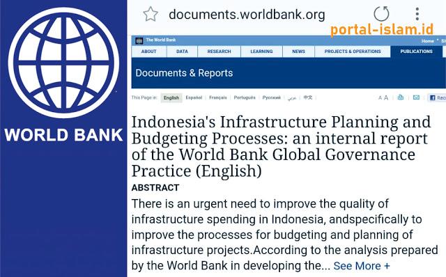 Kritikan Bank Dunia Terkait Infrastruktur Pukul Pemerintahan Jokowi