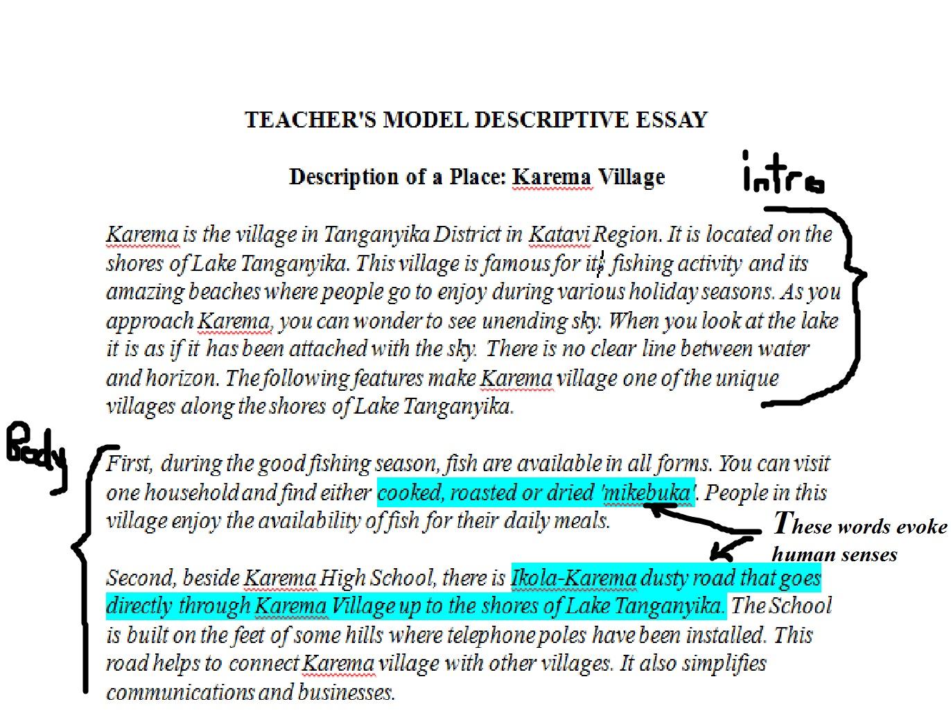 O Level English Blog How To Teach Writing Descriptive