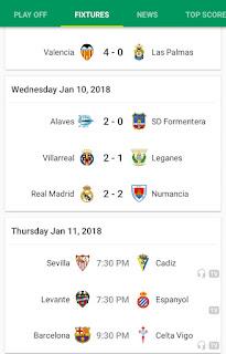 Game fixtures