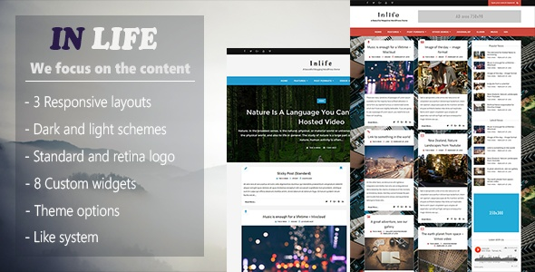 InLife Simple Magazine Responsive Wordpress Themes