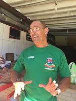 Coordenador da turma, o professor de ginástica, Luís Lisardo, conta que a aula é uma das preferidas da turma