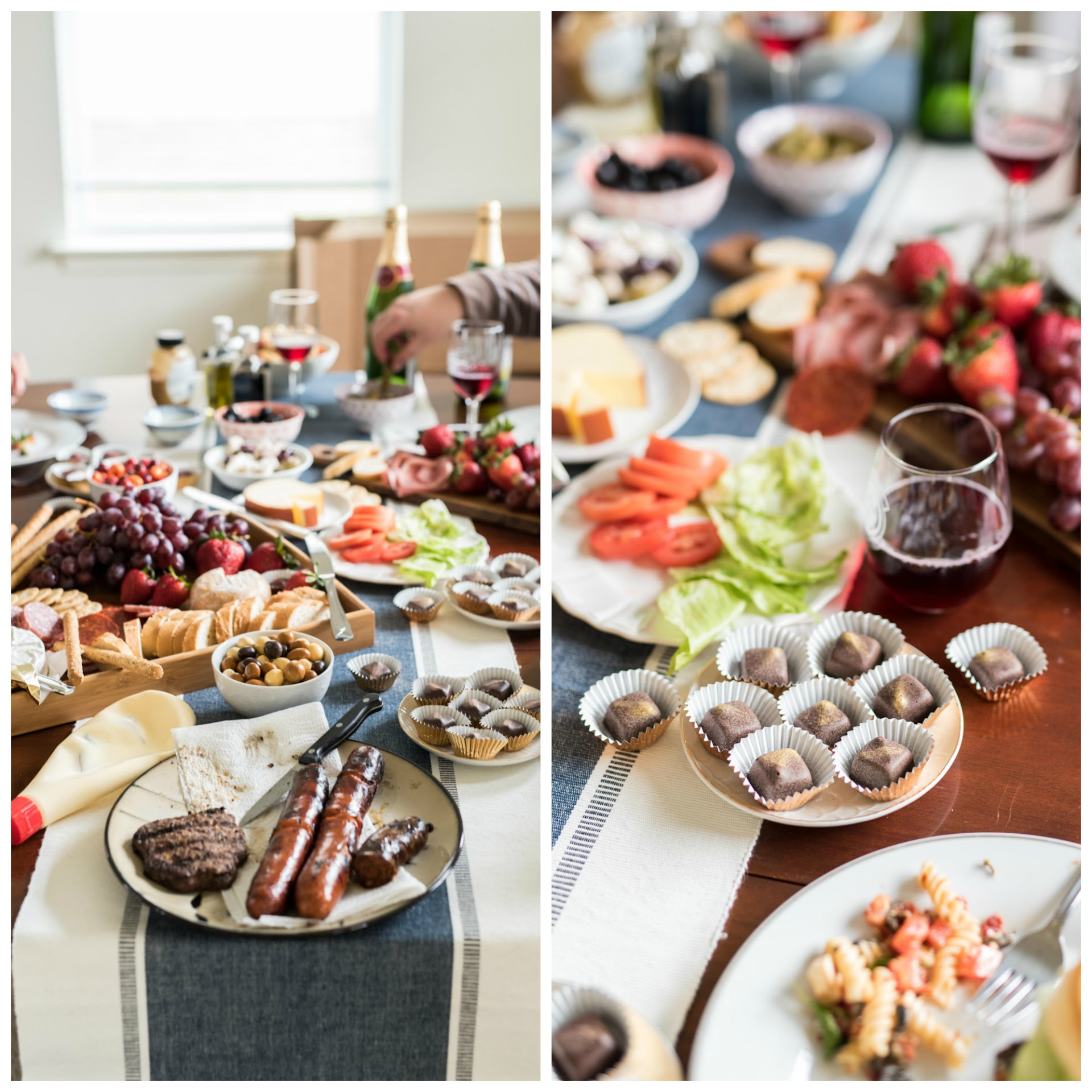 chocolate tasting party, dinner party ideas, menu, charcuterie, picnic food ideas, picnic party, cheese board, summer grilling party ideas, chocolate tasting,
