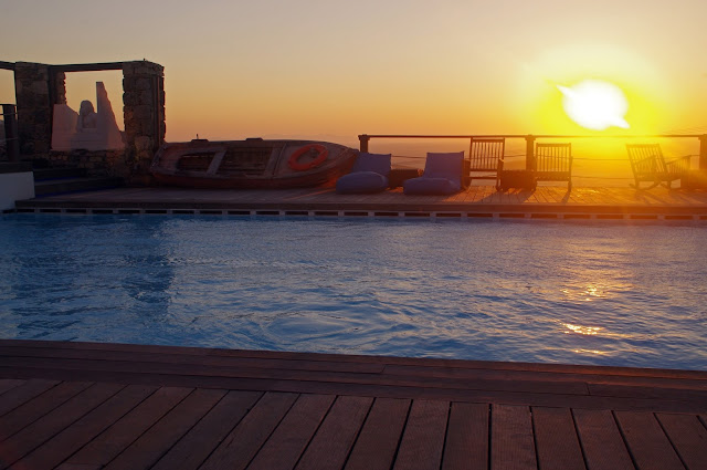 Sunset from Tharroe of Mykonos