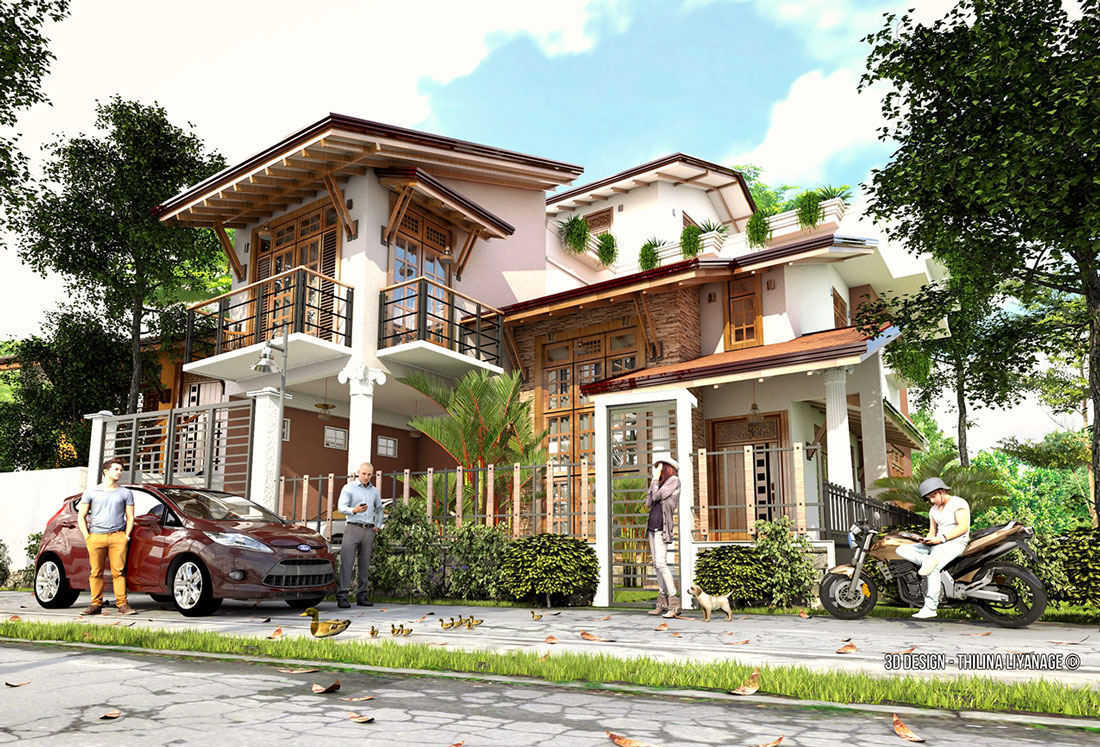 free sketchup 3d model 2 story house_by_Thilina Liyanage #31