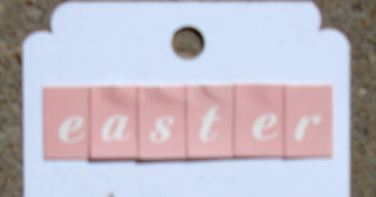Stamped Easter Tag