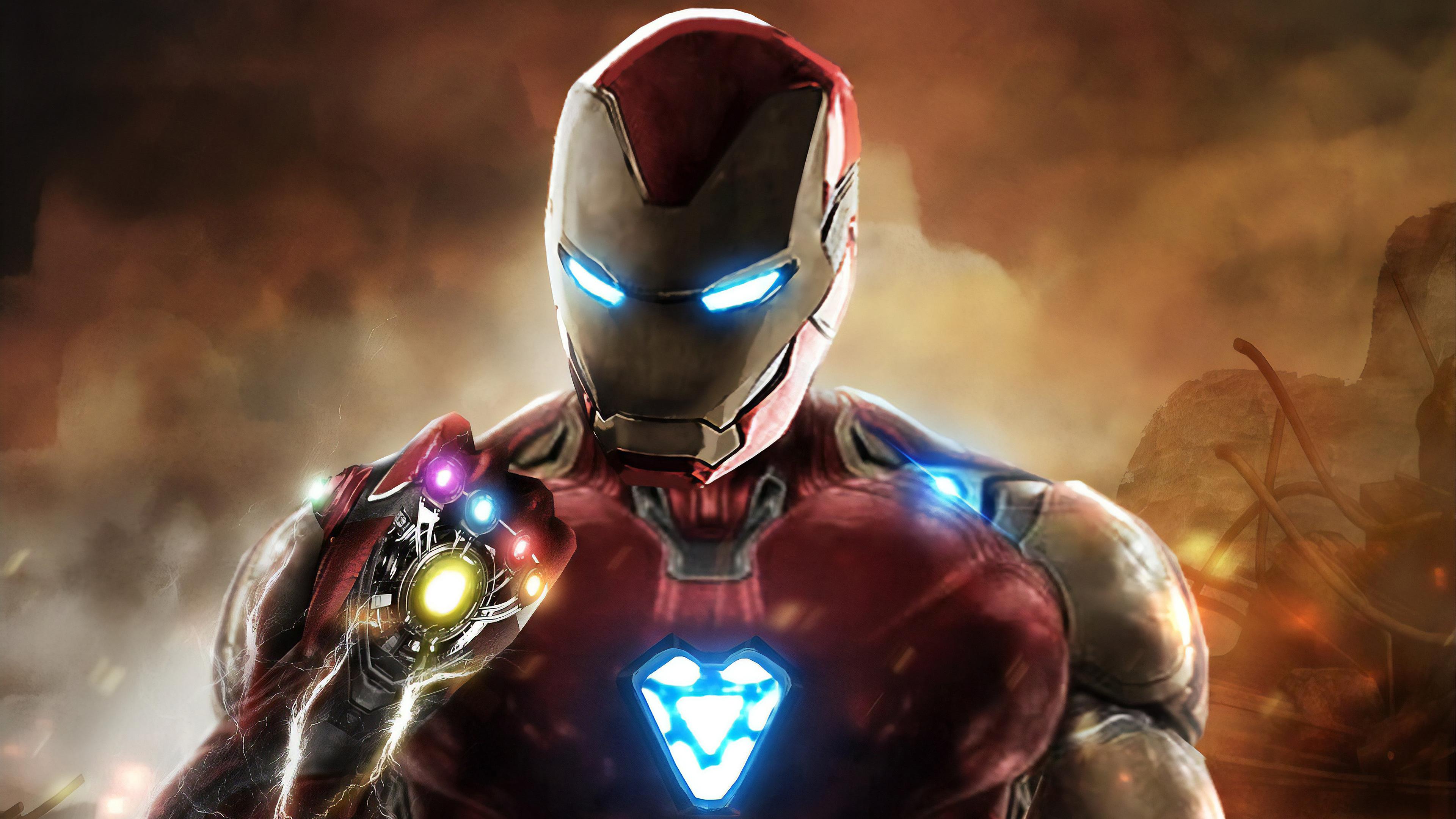 Avengers Endgame Iron Man Infinity Stones 8k Wallpaper 171
