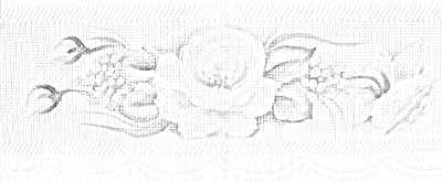 risco pintura em tecido toalha de chá com rosas