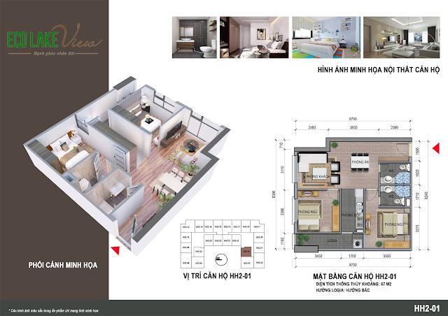 Thiết kế căn hộ 01 tòa HH-02 Eco Lake View