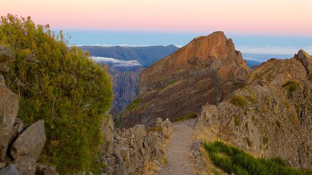 Vistas do Pico do Arieiro na Madeira
