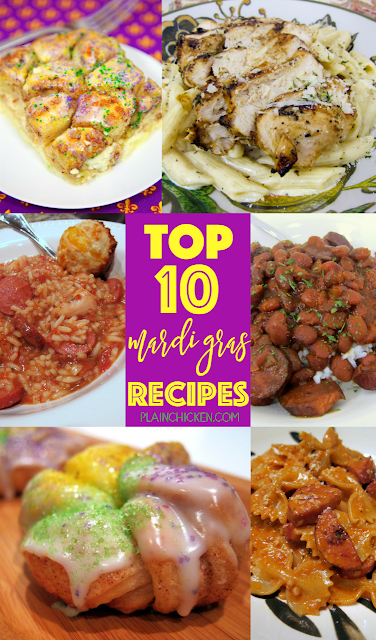 Top 10 Mardi Gras Favorites - 10 must have recipes for your Mardi Gras celebrations!