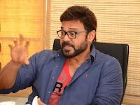 Venkatest Interview Stills about Babu Bangaram Movie