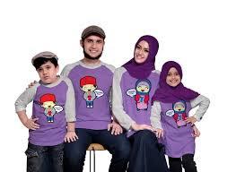 Baju Kaos Muslim Couple Keluarga Modern