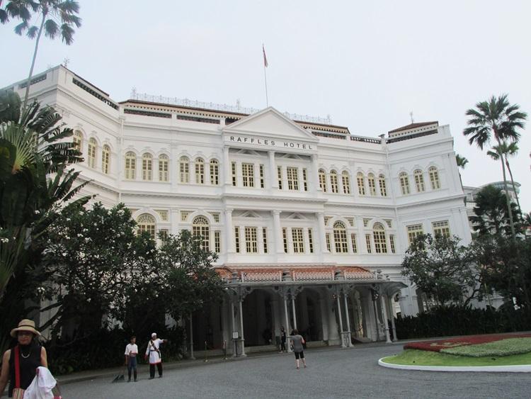 The famous Raffles Hotel, Singapore