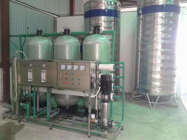 dàn lọc nước tinh khiết công nghiệp
