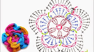 6 patrones de flores al crochet + video con paso a paso