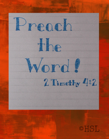 2 Timothy 4:2, Scripture Writing