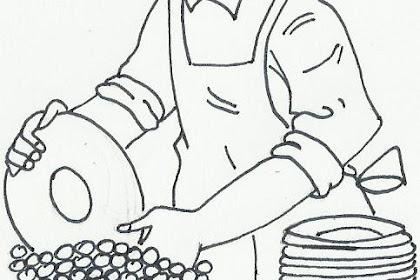 Dibujo Ama De Casa Para Colorear
