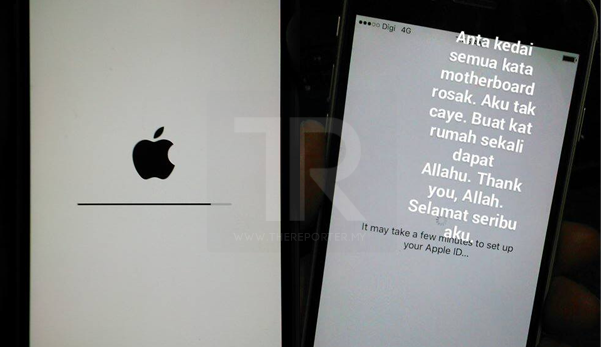 best service e06b9 3425f iPhone tiba² 'hang', hantar kedai kata hardisk/motherboard rosak ...