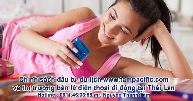 Chính sách đầu tư du lịch và thị trường bán lẻ điện thoại di động tại Thái Lan