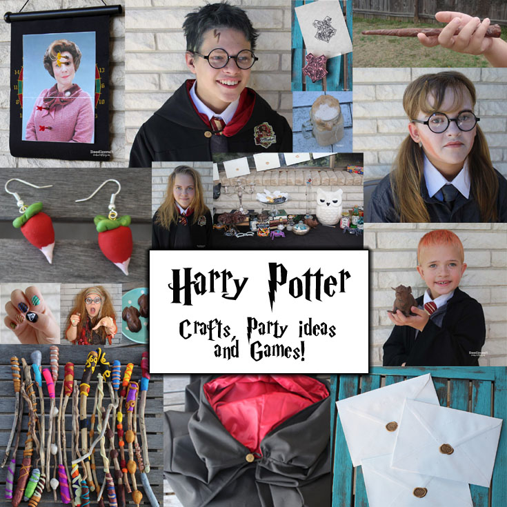Doodlecraft 28 Harry Potter Crafts Party Ideas And Games