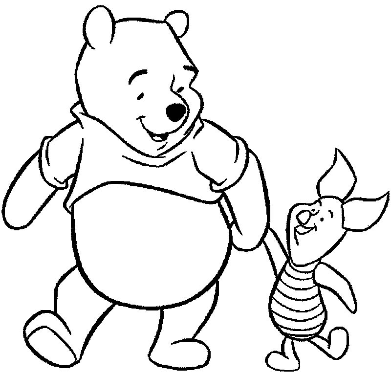 - Disney Colouring Book For Kids: Winnie The Pooh Coloring Pages