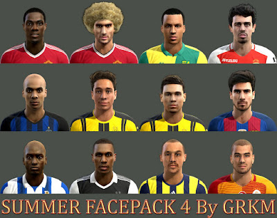 PES 2013 Summer Facepack 4 by Grkm