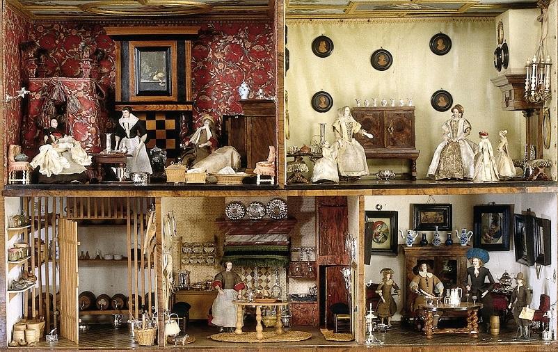 Velharias a sala de jantar ou casas de bonecas - Casas miniaturas para construir ...