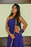 Actress Priya in Blue Saree and Sleevelss Choli at Javed Habib Salon launch ~  Exclusive Galleries 031.jpg