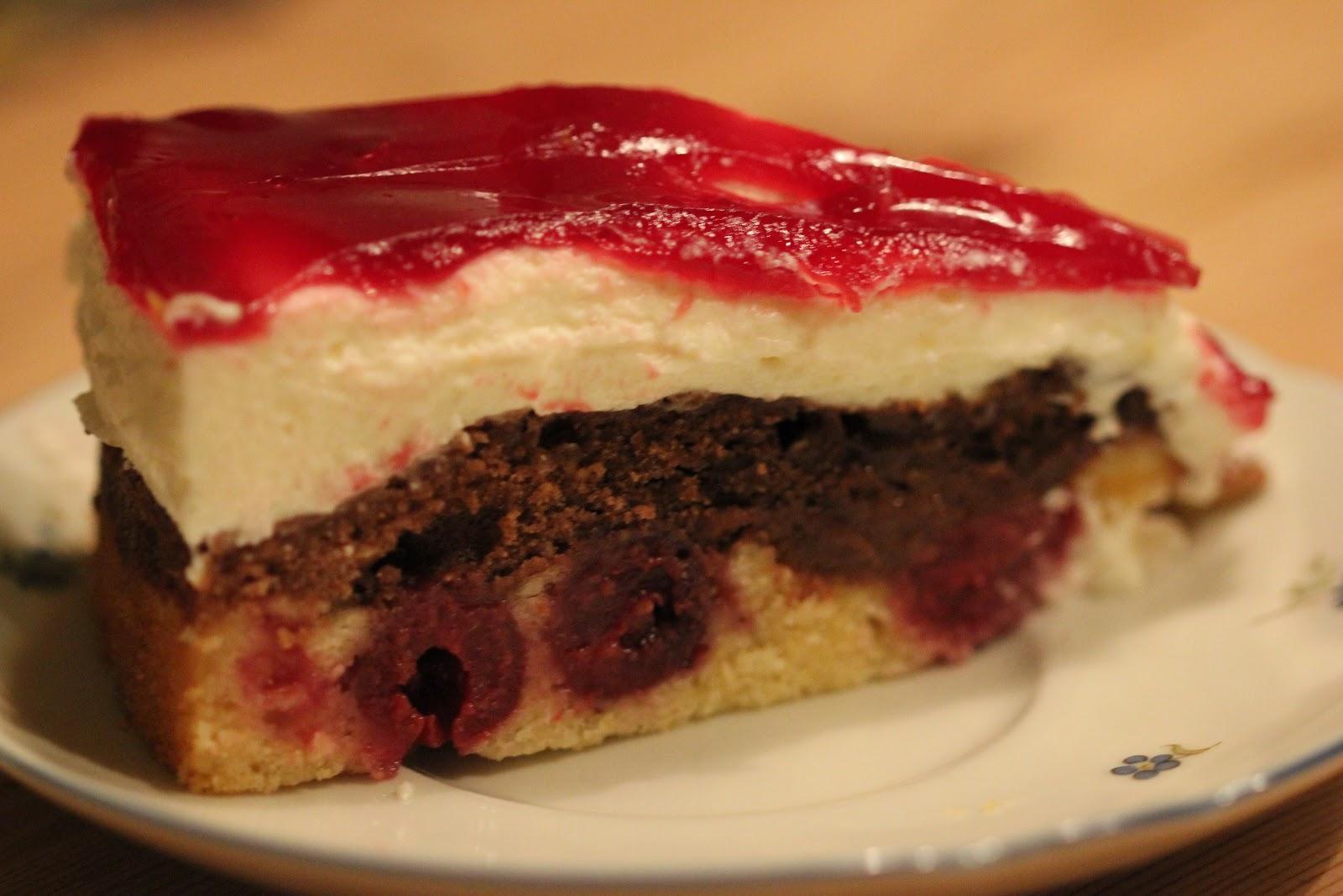 La Vie Gourmande Nutellakuchen Mit Quark Und Kirschen