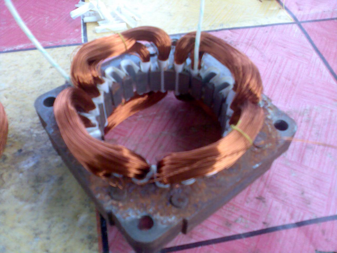 Wawan Elektro  Sinjai: Gulungan Motor Mesin Cuci