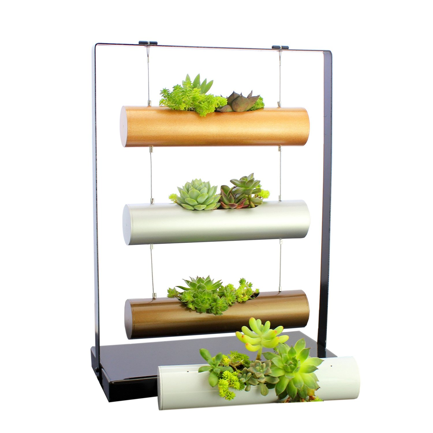 14 Ways to Display Succulents - Tiered Hanging Planter