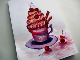 акварельный десерт