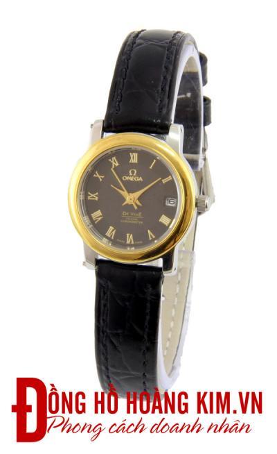 bán đồng hồ nữ omega dây da