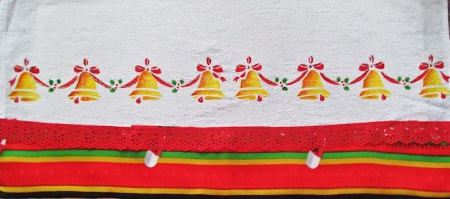 pano de copa sinos natal stencil