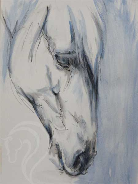 Contemporary equestrian art, Horse painting, horse art, equine fine art, 100 paintings in 100 days