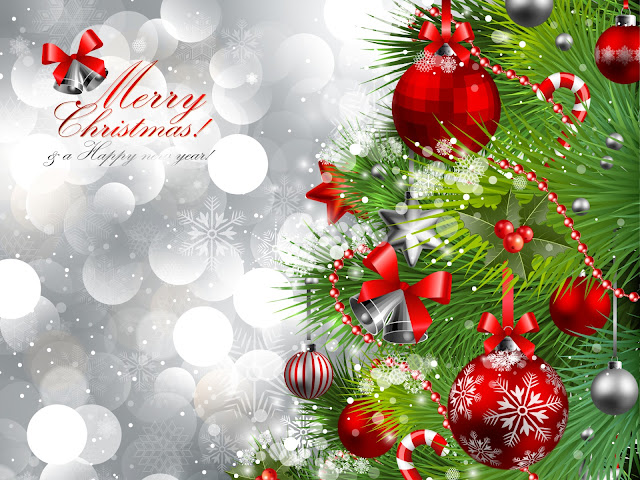 merry christmas romantic wallpaper