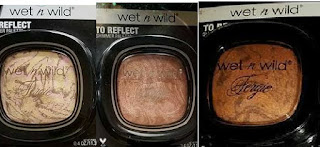 Wet & Wild FERGIE To Reflect shimmer: Hollywood Boulevard, Rose Golden Goddess, Carnaval in Rio bronzer