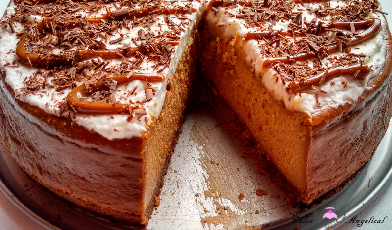 Cheesecake horneado de dulce de leche casera