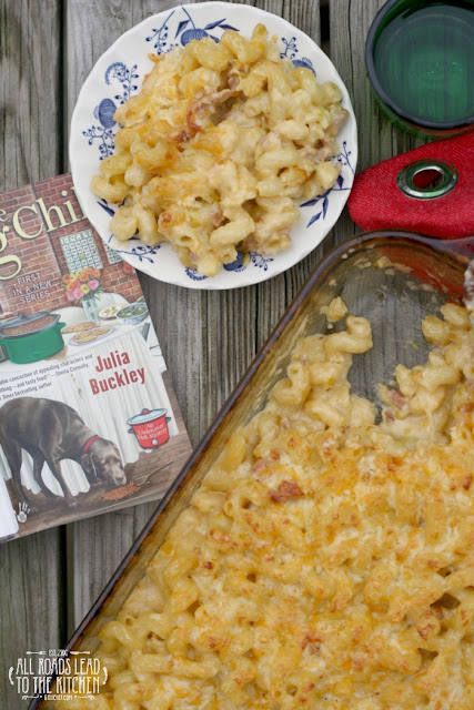 Three Cheese Mac and Cheese with Prosciutto and Leeks