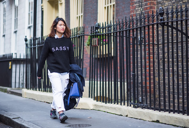 slogan jumper style outfit