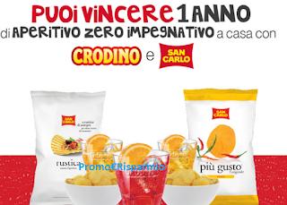 Logo Vinci un anno di Aperitivo : 50 kit di prodotti San Carlo e Crodino