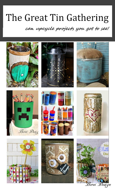 Many ideas and diy tutorial instructions how to recycle cans for organizing and decorating.