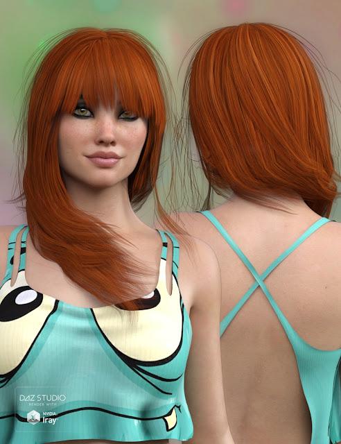 Silvie Hair for Genesis 3 Female