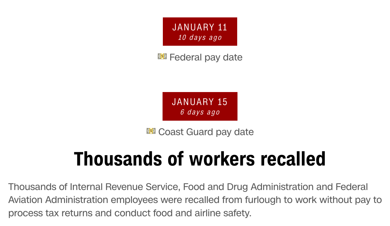 free to find truth: Government Shutdown & date deadlines to